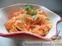 Фото к рецепту: Салат из черной редьки с морковью и яблоком