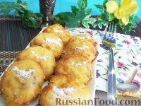 Фото к рецепту: Персиковые сырники, запеченные в духовке, с медом и кунжутом