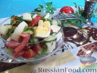 Фото к рецепту: Овощной салат с дыней