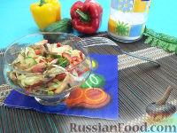 Фото к рецепту: Салат с сырыми шампиньонами