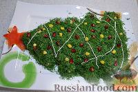 Фото приготовления рецепта: Салат на Новый Год «Елочка» - шаг №6