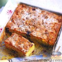 Фото к рецепту: Лавандовый пирог с черникой и нектарином