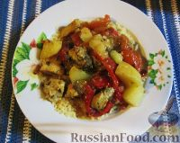 Фото к рецепту: Таджин с рыбой и овощами