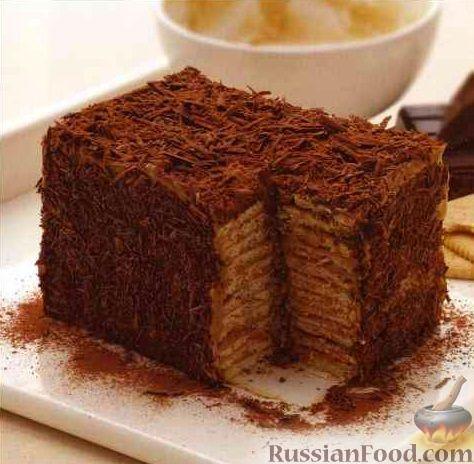 торт с печенья с фото рецепт
