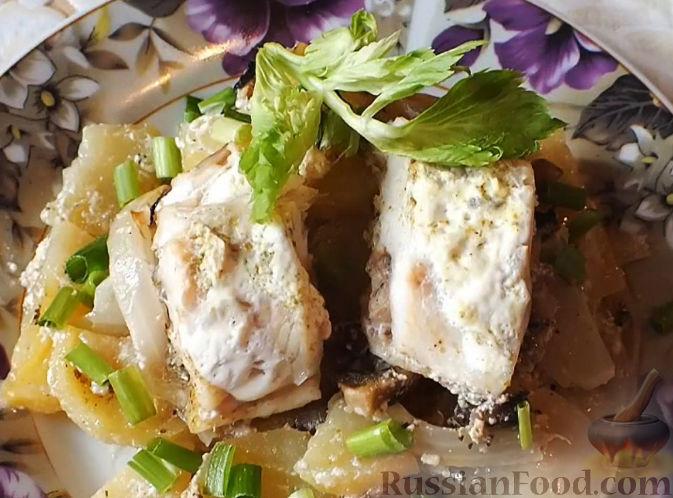 рецепты рыба в духовке с картошкой и луком