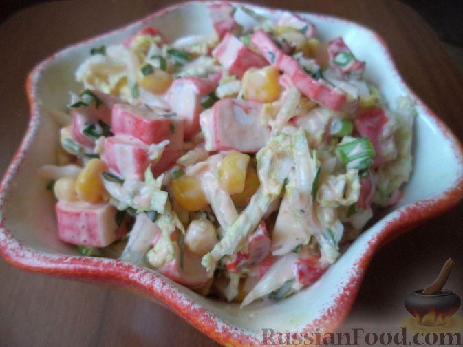 рецепт салата с крабовыми палочками с пекинской капустой