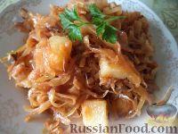 Фото к рецепту: Капуста тушеная с картошкой