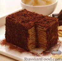 торт с бананами и сгущенкой без выпечки рецепт с фото из печенья