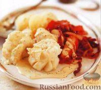 Фото к рецепту: Треска с тушеной красной капустой