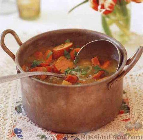 гороховый суп с колбасой и мясом рецепт