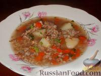 Фото к рецепту: Гречневый суп с мясом
