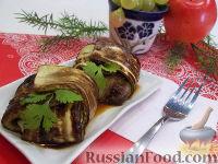 Фото к рецепту: Конвертики из кабачков с сырной начинкой