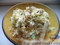 Фото к рецепту: Салат из кольраби с яблоком и грецкими орехами