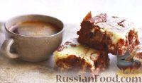 Фото к рецепту: Шоколадные брауни с сыром