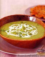 Фото к рецепту: Суп из садовых бобов с жареным картофелем и мясом