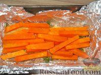 Фото приготовления рецепта: Мясной рулет с тыквой и сыром - шаг №12