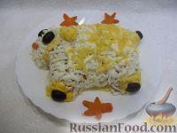 """Фото к рецепту: Новогодний салат """"Мимоза"""""""