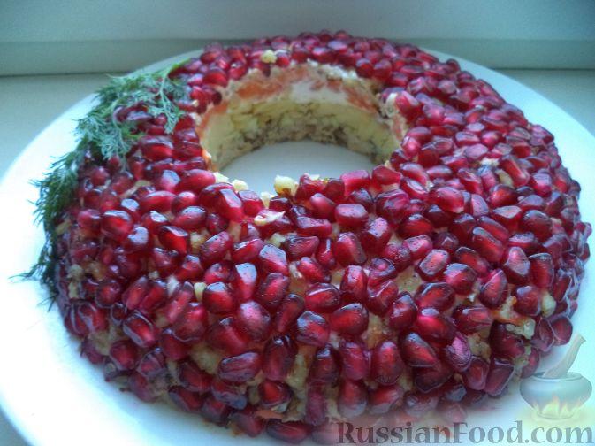 Фото к рецепту: Салат «Гранатовый браслет»