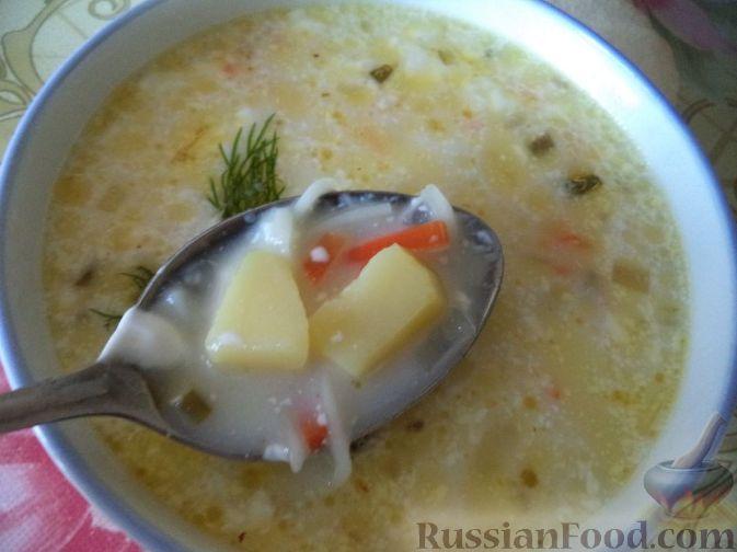 как приготовить сырный суп из плавленного сырка с курицей пошаговый рецепт