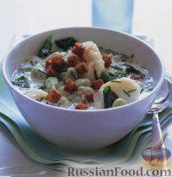 Фото к рецепту: Суп с рыбой и садовыми бобами