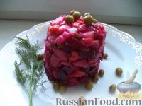Фото к рецепту: Винегрет с сельдью