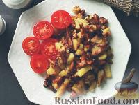 Фото к рецепту: Лисички с картошкой