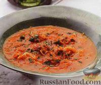 Фото к рецепту: Томатный суп-пюре с фрикадельками