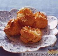Фото к рецепту: Профитроли с сыром