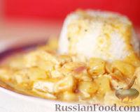 Фото к рецепту: Курица с ананасом и травами (по-гавайски)