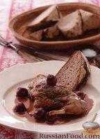 Фото к рецепту: Кролик в вишневом соусе