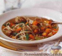 Фото к рецепту: Овощной суп с фрикадельками