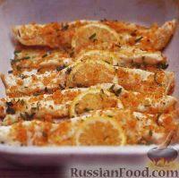 Фото к рецепту: Камбала, запеченная с шалфеем