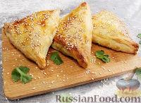 Фото к рецепту: Иерусалимские бурекасы (пирожки) с брынзой и баклажанами