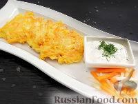 Фото к рецепту: Латкес - овощные оладьи (драники)