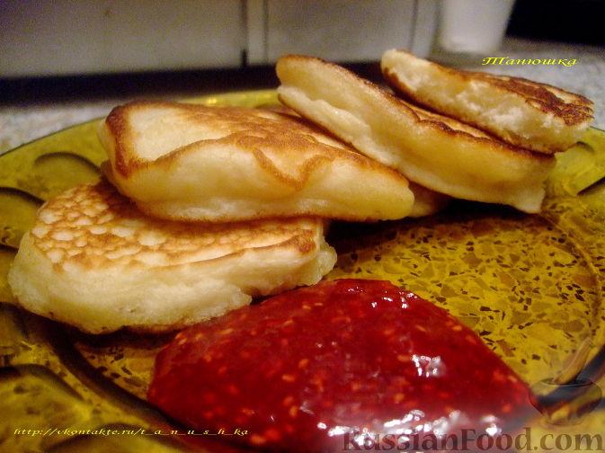 вкусные оладьи на кефире пышные рецепт с фото пошагово