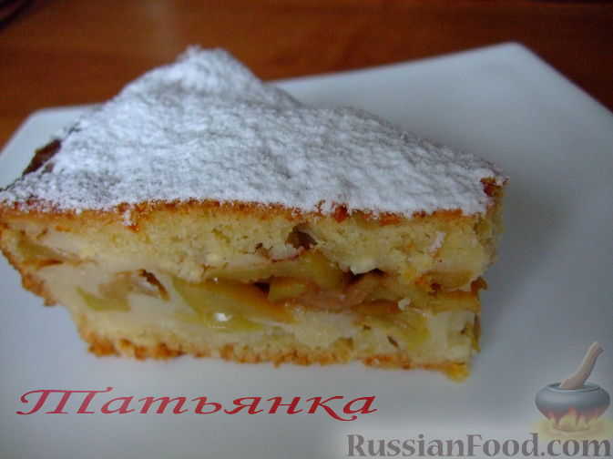 рецепт творожного теста для пирога с яблоками