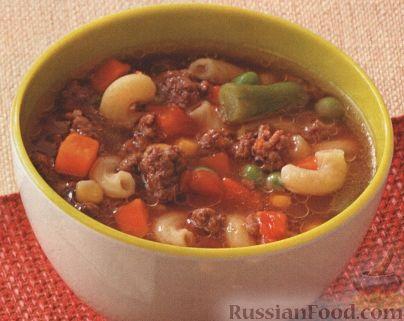 Рецепт Овощной суп с фаршем и макаронами