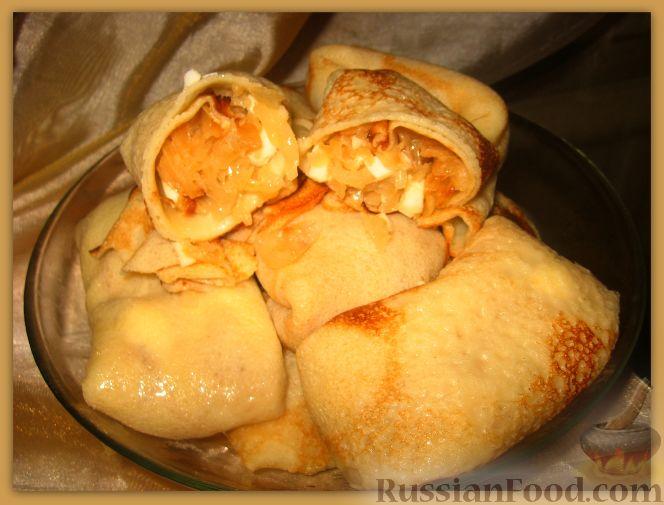 Рецепт Блинчики с капустой