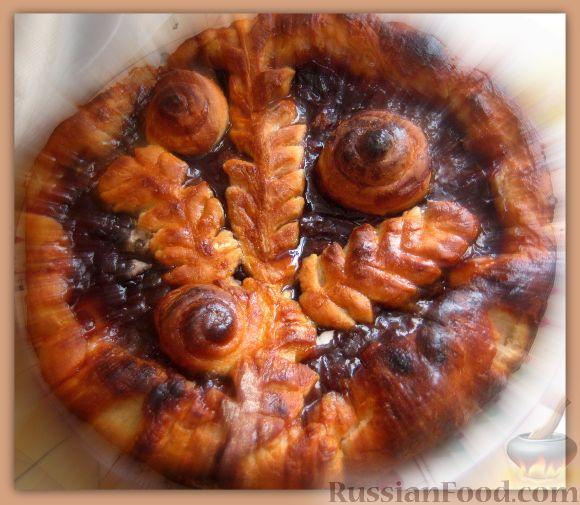 Рецепт Открытый пирог со сливовым вареньем