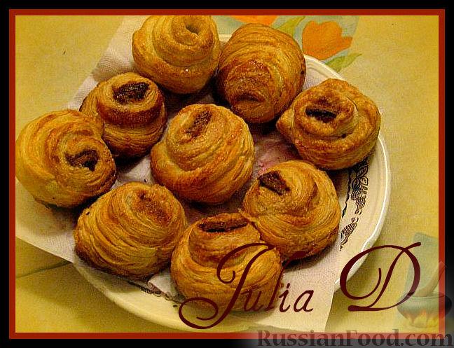 Рецепт Сахарные булочки с шоколадом