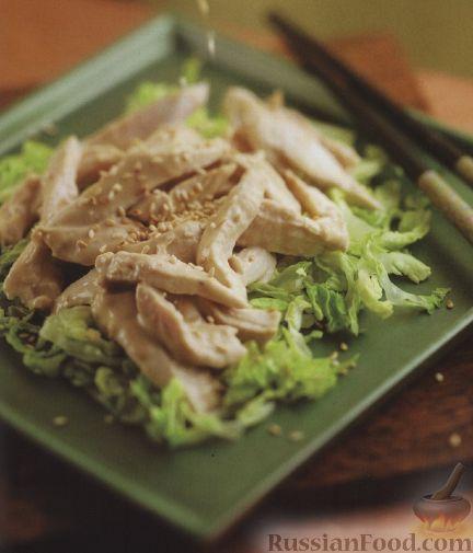 Рецепт Куриное филе в кунжутном соусе