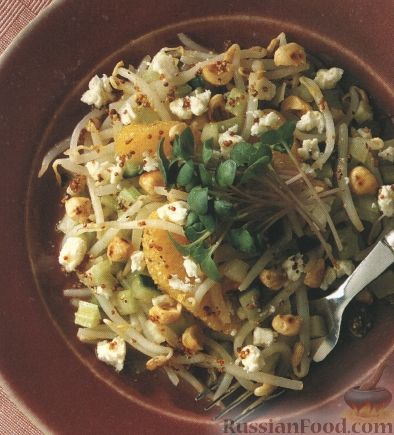 Рецепт Салат с бобовыми ростками