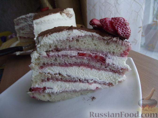 Рецепт Клубничный торт по мотивам Тирамису