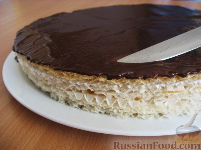 Рецепт торта вафельной картинкой