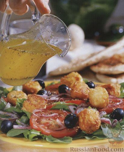 Рецепт Овощной салат с жареным сыром фета