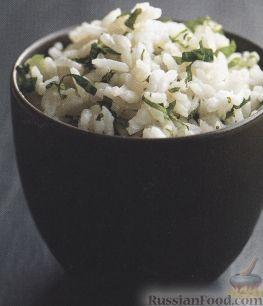 Рецепт Рис на кокосовом молоке с мятой