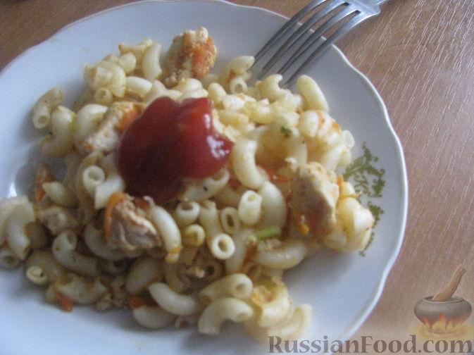 Рецепт Паста с овощами и куриной грудкой