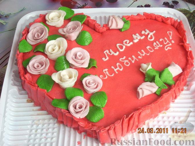 Как украсить торт для любимого своими руками