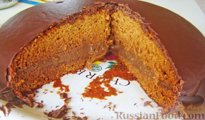 Рецепт Медовик с начинкой из вареной сгущенки