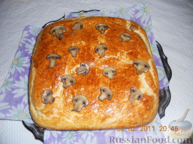 Приготовить пирог из грибов